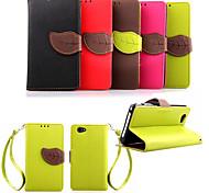 caso quente carteira de couro da aleta aleta com stand titular luxo estojo de couro pu para LG l70 (cores sortidas)
