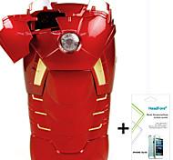 disney maravilla caso de la cubierta ironman gratis con protector de pantalla para el iphone headfore 5s / 5g-MK7 iphone5s / 5g