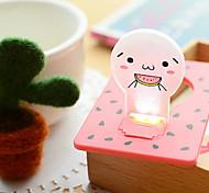 hochwertige kreative Energieeinsparung Ideen unplugged Batterie kleine Nachtlampe Licht-Karte (gelegentliche Farbe)
