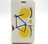 Lemon Bike PU Leather Case with Stand for Samsung Galaxy S6/S5/S4/S3/S3 mini/S4 mini/S5 mini/ S6 edge