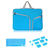 "Hot Selling Zipper Sleeve bag with Keyboard Cover and Silicone Dust Plug for Macbook Retina 15.4""  (Assorted Colors)"
