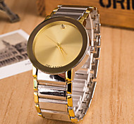 Men's Simple Design Alloy Band Quartz Analog Wrist Watch