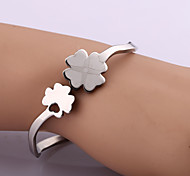 Classic Fashion Flower Stainless Steel Bracelet