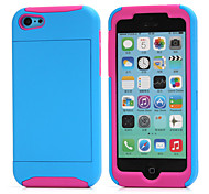 Sports and Outdoors Shockproof TPU+PC Credit Card Holder Wallet Case Cover for iPhone 5/5S (Assorted Color)