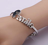 Classic Fashion Smile Stainless Steel Bracelet