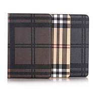 8 inch rasterpatroon pu portemonnee lederen tas met standaard voor Samsung Galaxy Tab een 8,0 sm-T350 / T351 (verschillende kleuren)