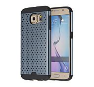 2 in 1 Metallplatte Stanzen Thermal Design stoßfest Schutzmaßnahmen zurück Fall für Samsung-Galaxie s6 (Farbe sortiert)