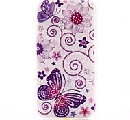 modello di farfalla materiale TPU soft phone per mini galassia s5