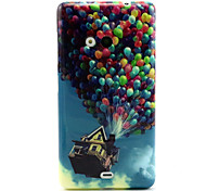 Balloon House Pattern TPU Soft Case for Nokia N535