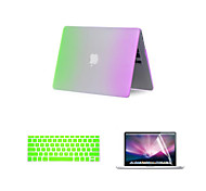 3 in 1 Rainbow Matte Full Body Case with Keyboard Cover and Screen Protector for Macbook Air 13.3""
