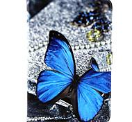 Para Funda Samsung Galaxy Soporte de Coche / Cartera / con Soporte / Flip / Diseños Funda Cuerpo Entero Funda Mariposa Cuero Sintético