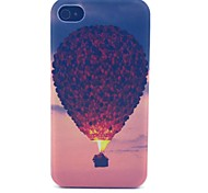 Hot air Balloon Pattern PC Material Phone Case for iPhone 4/4S