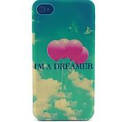 sognare modello palloncino cassa del telefono materiale del pc per il iphone 4 / 4s