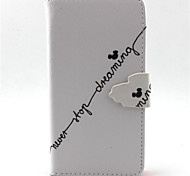 Adhere To The Dream Pattern PU Leather Phone Case For G355/G357/G360/G386F/G850F/G3500/G5308