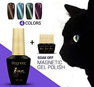 4pcs / lot azuis uv cat eyes uv magnética gel gel polonês Soak Off unhas arte manicure laca duradoura (# 83 + 84 + # # # 85 + 86)