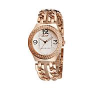 bracelet de diamants en strass montres de luxe de la mode casual montres plaqué or rose quartz montres uniques