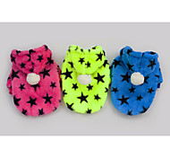 Green/Blue/Rose Fashion Five Star Pet Clothes Cotton Hoodies For Dogs