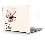 "Elegant Flower Pattern Full-Body Protective Case for 12"" Inch The New Macbook with Retina Display (2015 Release)"