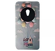 padrão do balão caso pu cartão material para asus zenfone 2 / asus zenfone 5 / asus zenfone 6