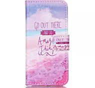 Pink Sea Pattern PU Leather Phone Case For iPhone 5C