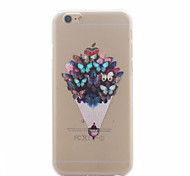 Butterfly Pattern Ultrathin Hard Back Cover Case for iPhone 6