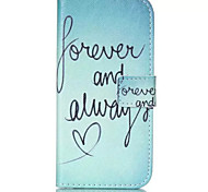 Always Love Pattern PU Leather Phone Case For iPhone 6