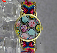 Bohemian Style Women'S Fashion Watches Egg Tart Pattern Hand-Woven Watches Students Watch