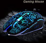 2015 nueva ajustable 3200 ppp 6 botones usb óptico juego de juego con cable de ratón para el ordenador portátil llevó pc