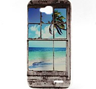 Coconut Tree Pattern TPU Material Soft Phone Case for LG L90 D405