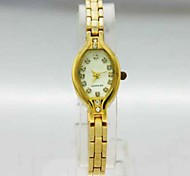 Women's Analog Copper Case Square Dial Copper Band Stone Japan Quartz Watch Women Fashion Watch Gift Watch Ladies Watch
