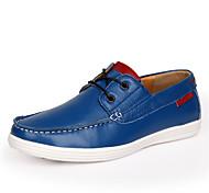 Zapatos de Hombre Zapatos Náuticos Casual Cuero Negro / Azul / Rojo