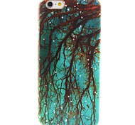 Blue Woods Pattern TPU Material Phone Case for iPhone 6