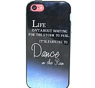 2-in-1 Dance in the Rain Pattern TPU Back Cover with PC Bumper Shockproof Soft Case for iPhone 5C