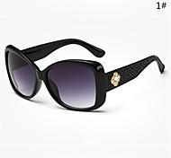 Sunglasses Women's Modern / Fashion Oversized Black / White Sunglasses Full-Rim