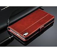 estojo de couro carteira para HTC Desire 816 com stand titular e cartão
