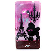 Romantic Tower Pattern Glitter TPU Cell Phone Soft Shell For Nokia Lumia N535 / Microsoft Lumia 535
