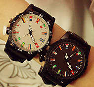 Unisex Colorful Couple's Watch Flag Student Men Or Women Watch Cool Watches Unique Watches