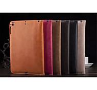 color sólido auto de cuero de la PU del sueño / despierta casos casos de sobres en folio para el ipad 2 3 4 (color clasificado)