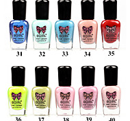 Bgirl Environmental Protection Water-based Tasteless Soak off Nail Polish(8ml,No31-40)
