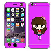 Cute Girl with A Red Hat Pattern Front and Rear Toughened Cartoon Membrane for iPhone 6S/6(Assorted Colors)