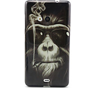 Monkey   Pattern TPU Soft Case for Nokia N535