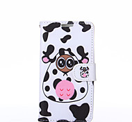 Black and White Pattern PU Leather Full Body Case with Stand for LG G3