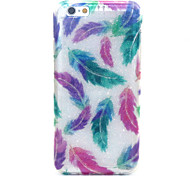 Colored Feathers  Pattern Glitter TPU Cell Phone Soft Shell  For iPhone 6