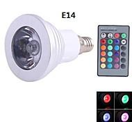 NO Dimmbar/Ferngesteuert Spot Lampen E14 3 W 90 lm LM K 1 Blau/Kühles Weiß AC 85-265 V