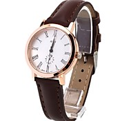 Simple Couple's Leather Band Wristwatch(Coffee)(1Pcs)