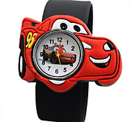 Children's Cartoon Car Pattern Silicone Quartz Analog Wrist Watch Cool Watches Unique Watches