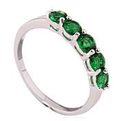 Size 6/7/8 High Quality Women Green Sapphire Rings 10KT White Gold Filled Ring