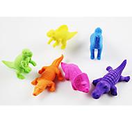 Various Dinosaur Style Self Assembled Rubber Eraser (Random Color)