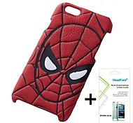 disney caso de la cubierta del hombre araña gratis con protector de pantalla para el iphone headfore 5s / 5g iphone5s / 5g