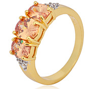 Size 8/9 High Quality Women Orange Sapphire Rings 10KT Yellow Gold Filled Ring